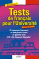 Tests de français pour l'Université / 20 Sample Tests for The French Competitive Examination at the Sofia University
