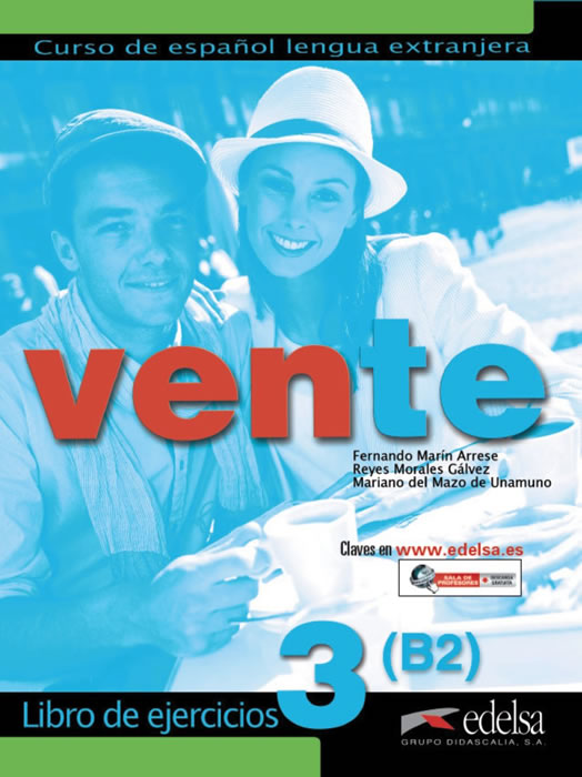Vente 3, учебна тетрадка по испански език, ниво B2