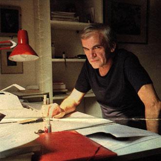 Милан Кундера с наградата на Френската национална библиотека