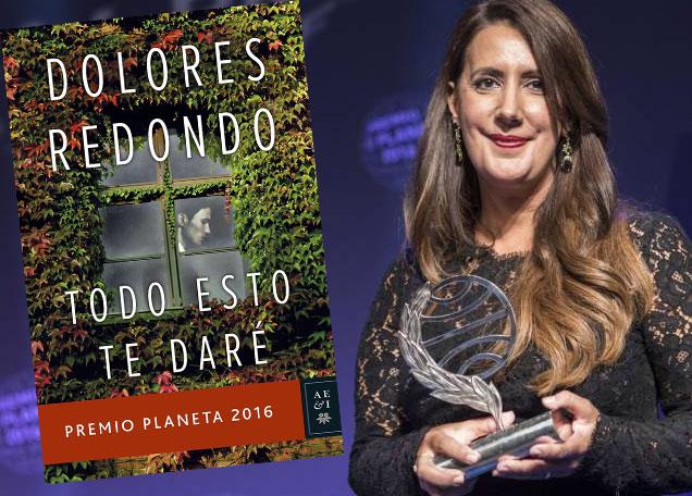 """Долорес Редондо спечели награда """"Планета"""" 2016"""